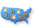 Find Real estate agents on US Map